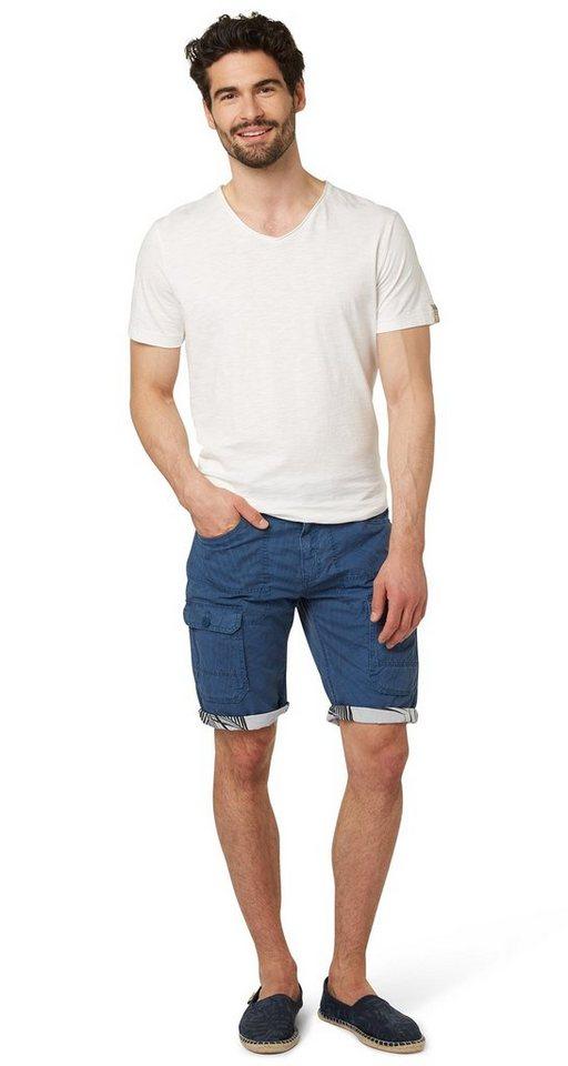 TOM TAILOR Shorts »cargo bermuda« in ensign blue