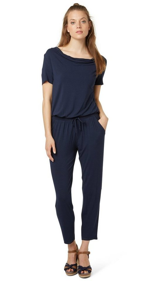 tom tailor kleid jumpsuit mit wasserfall ausschnitt online kaufen otto. Black Bedroom Furniture Sets. Home Design Ideas
