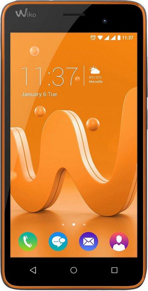 Wiko Jerry Smartphone, 12,7 cm (5 Zoll) Display, Android 6.0 (Marshmallow), 5,0 Megapixel in orange-schwarz