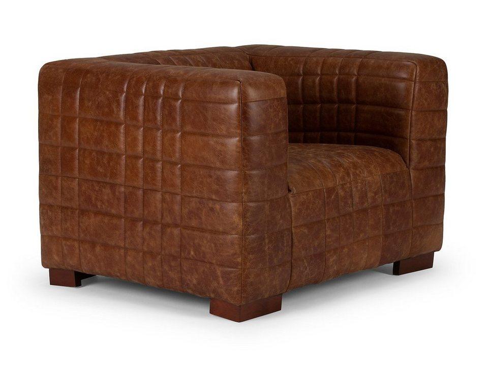 massivum Sessel aus Echtleder »Sabalo« in braun