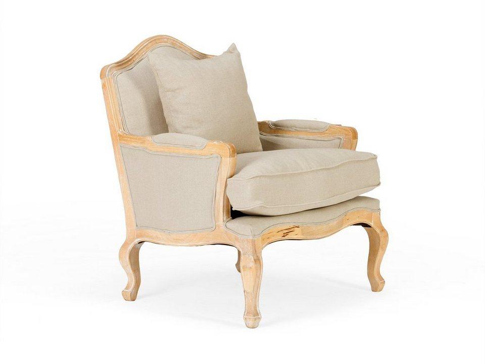 massivum Sessel aus Flachgewebe »Aragon« in natur