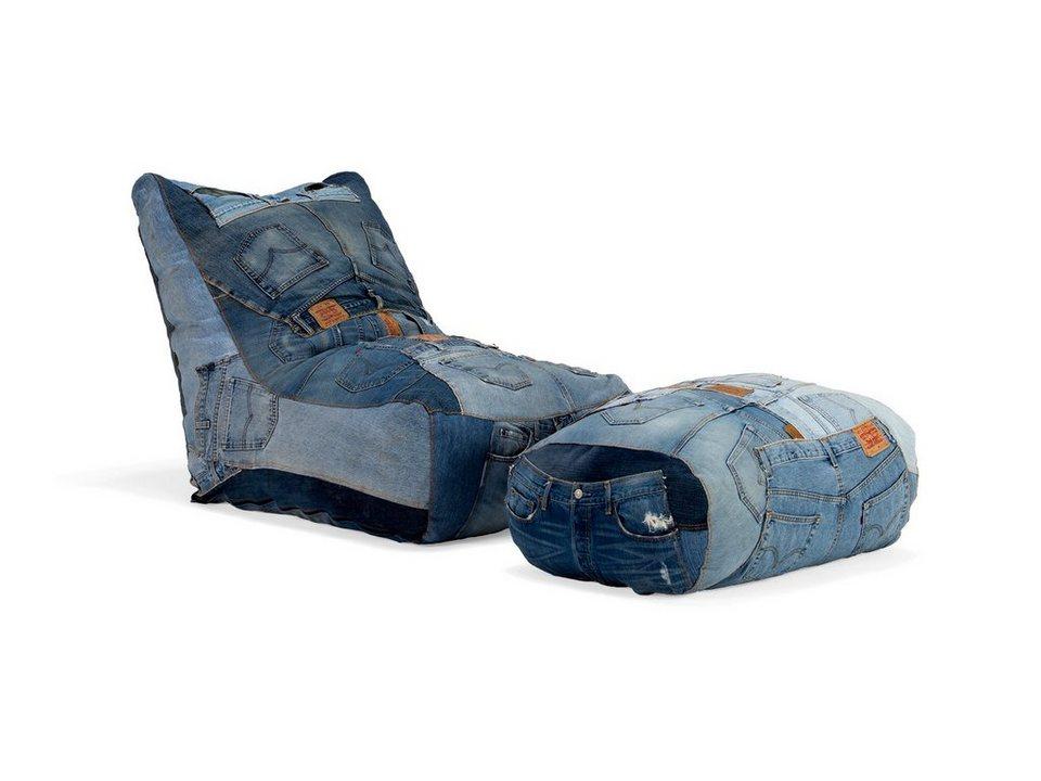 massivum Sessel aus Flachgewebe »Layton« in blau
