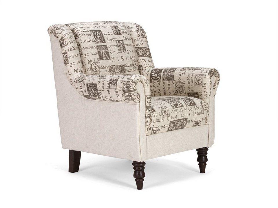 massivum Sessel aus Flachgewebe »Cumana« in beige