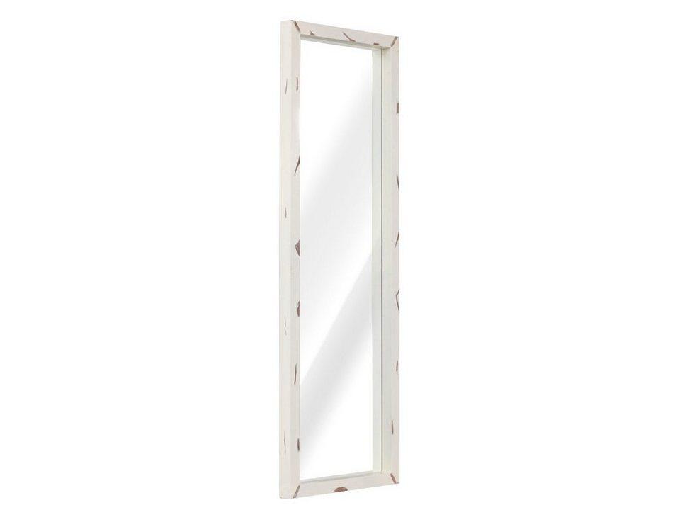 massivum Spiegel aus Mango massiv »Charley« in weiß