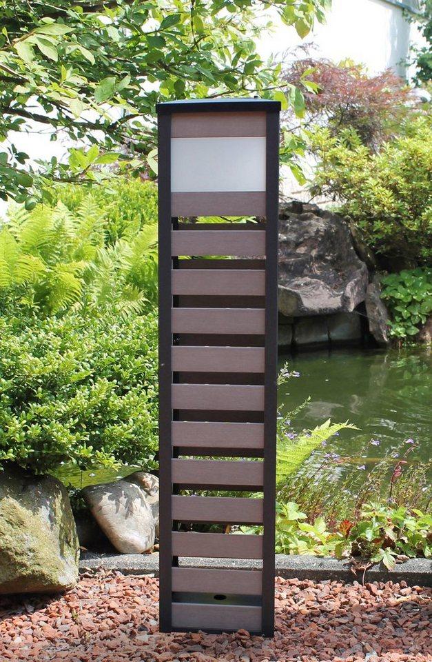 Solarleuchte »LED Modern 80 cm hoch« in braun