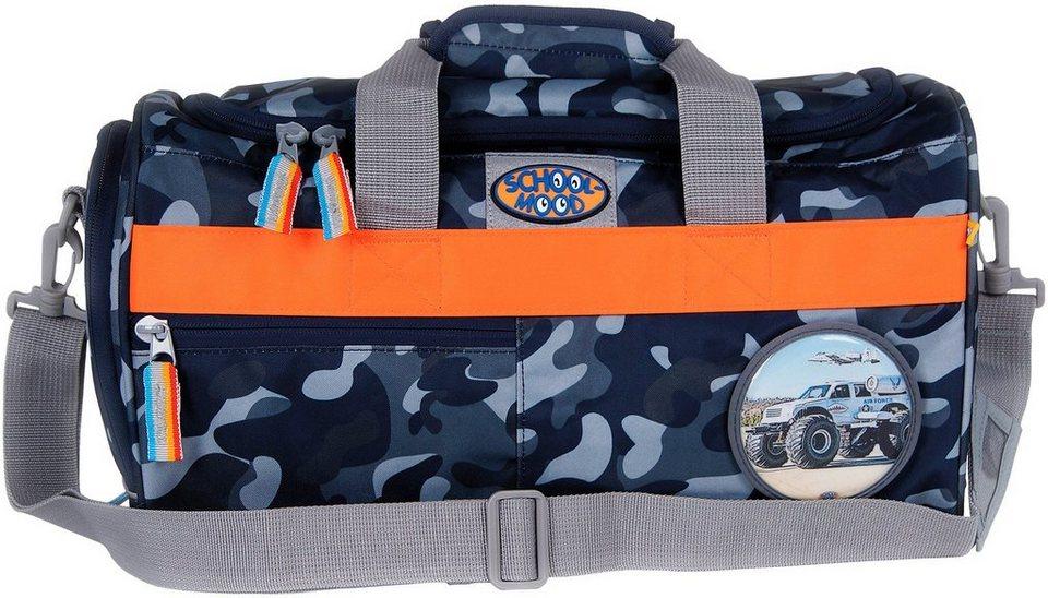 School Mood Sporttasche mit Nassfach, camouflage, »Air Force« in blau