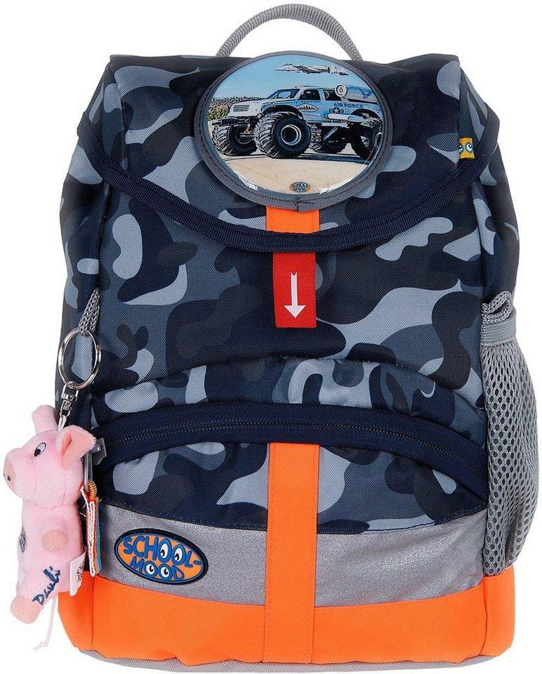 School Mood Kindergartenrucksack m. innenliegendem Trinkflaschenhalter, camoufl., »Kiddy Air Force« in grün