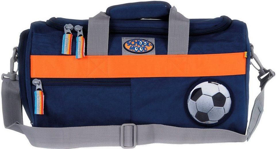 School Mood Sporttasche mit Nassfach, marine blue, »Fußball« in blau