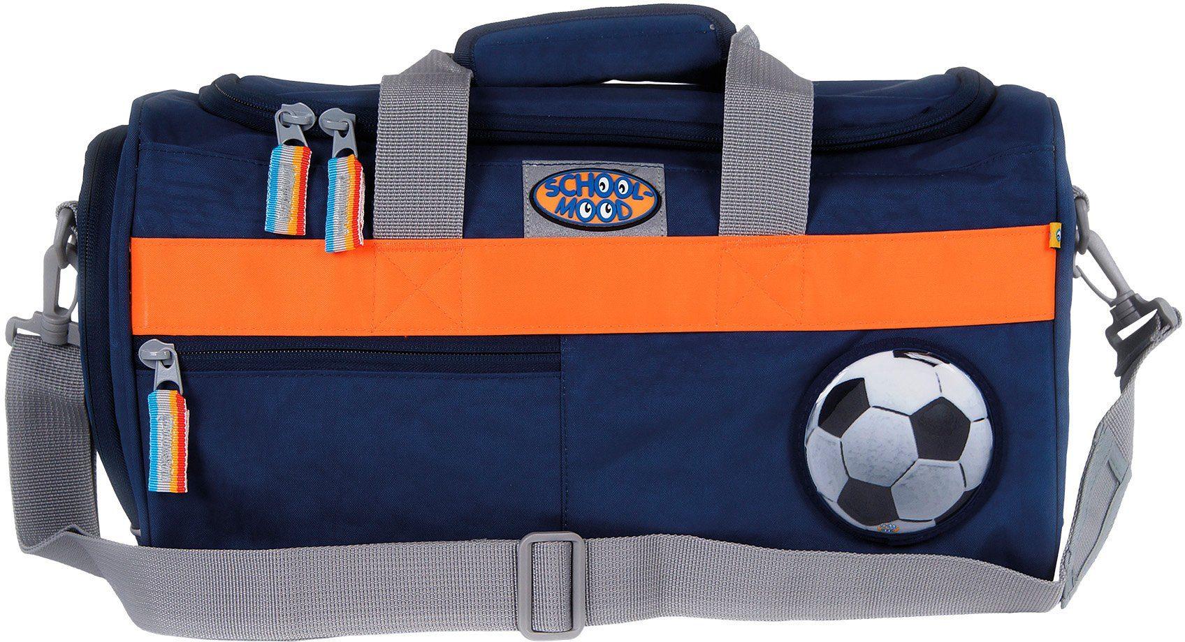 School Mood Sporttasche mit Nassfach, marine blue, »Fußball«
