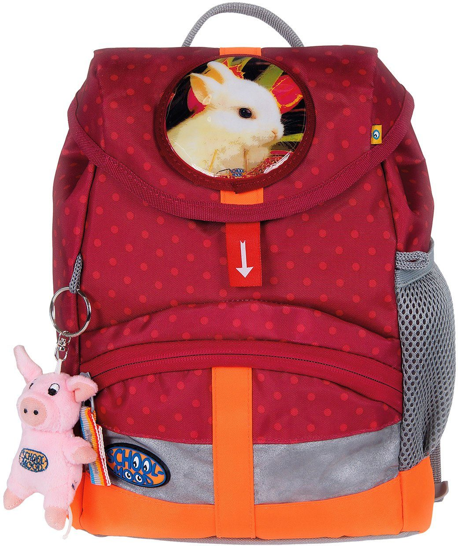 School Mood Kindergartenrucksack mit innenliegendem Trinkflaschenhalter, berry dots, »Kiddy Hase«