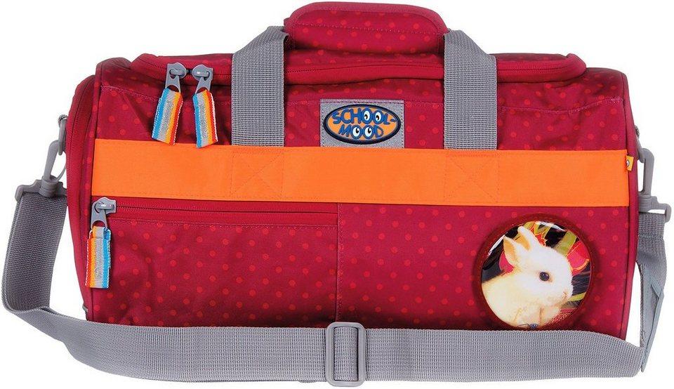 School Mood Sporttasche mit Nassfach, berry dots, »Hase« in rot