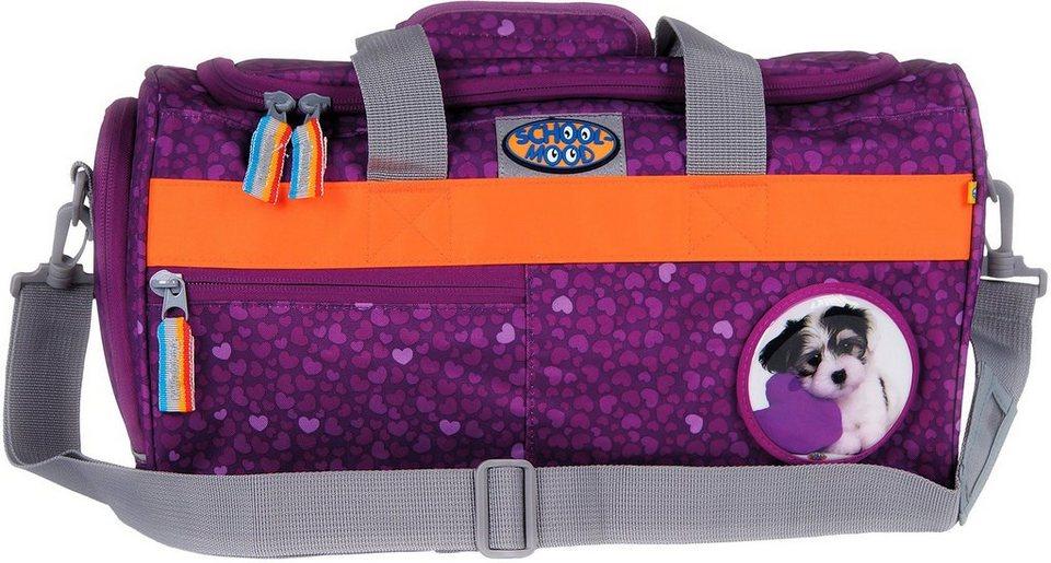 School Mood Sporttasche mit Nassfach, lilack, »Hund« in lila
