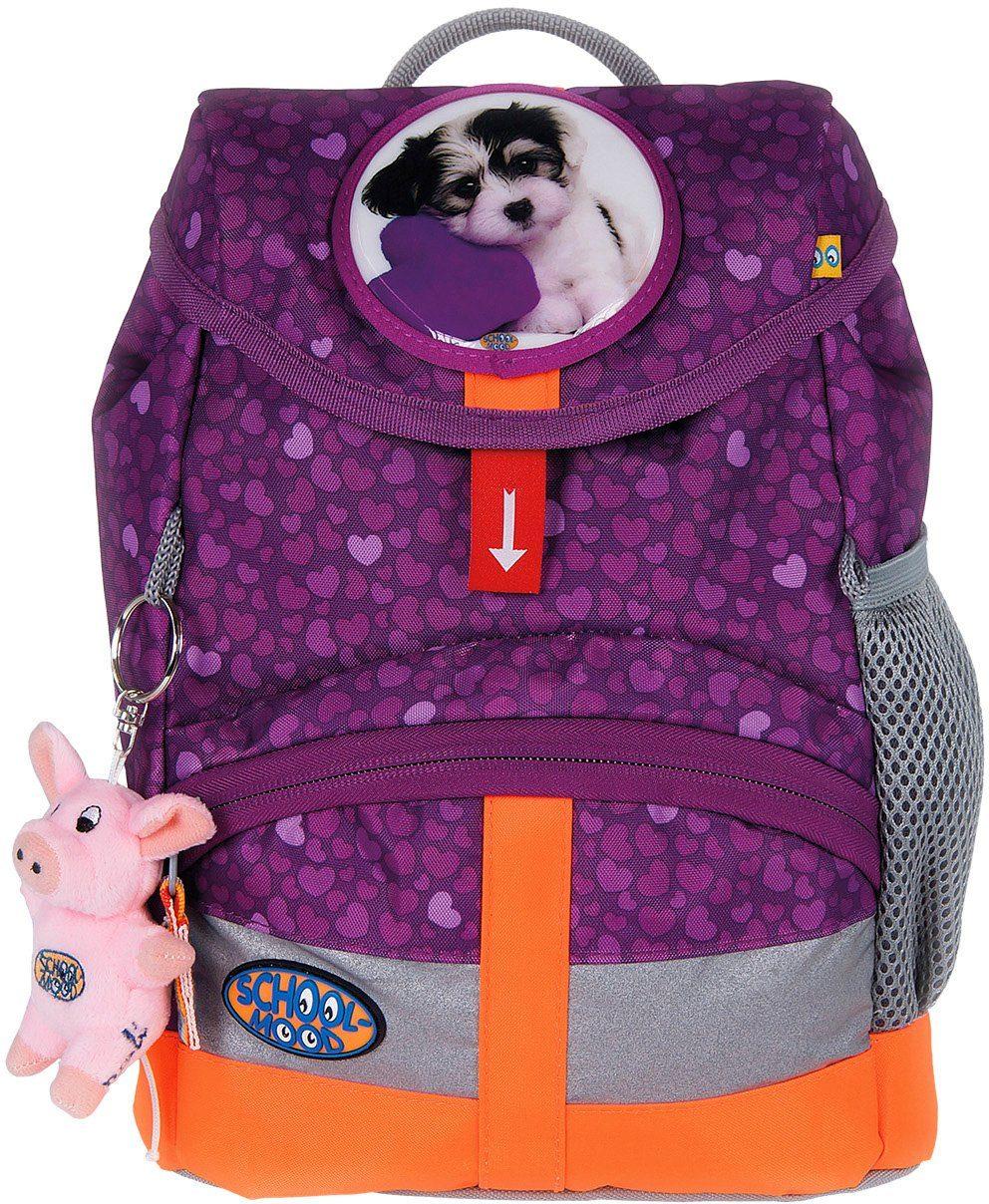 School Mood Kindergartenrucksack mit innenliegendem Trinkflaschenhalter, lilack, »Kiddy Hund«