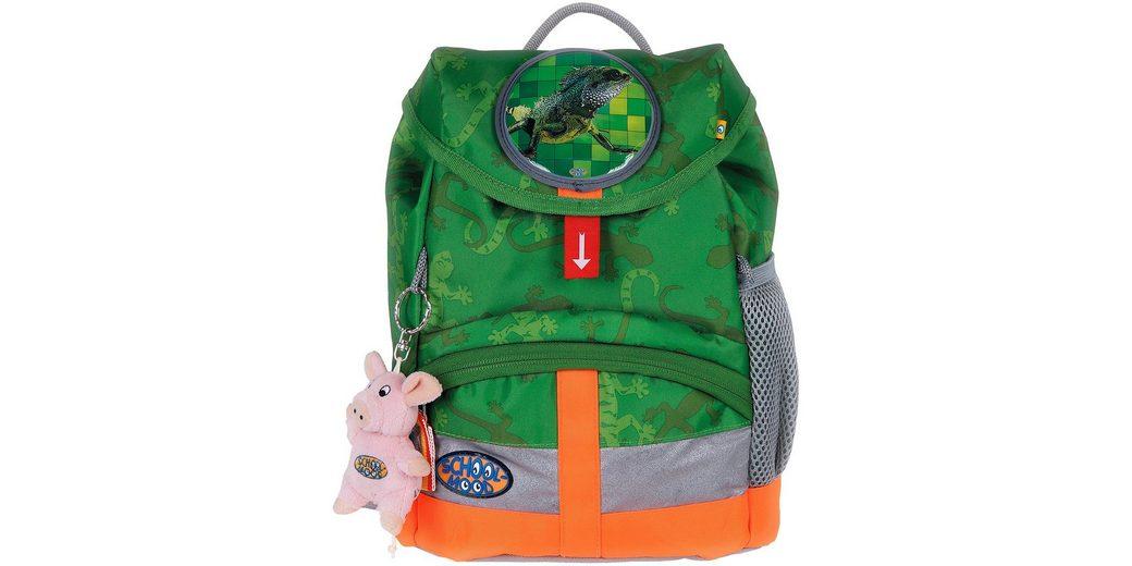 School Mood Kindergartenrucksack mit innenliegendem Trinkflaschenhalter, greenish, »Kiddy Gecko«