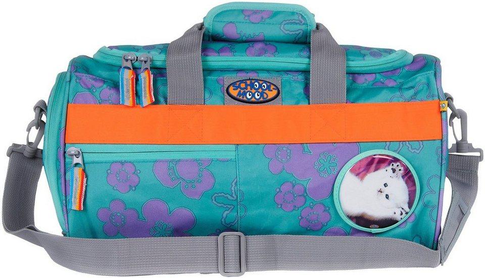 School Mood Sporttasche mit Nassfach, flowy, »Katze« in blau