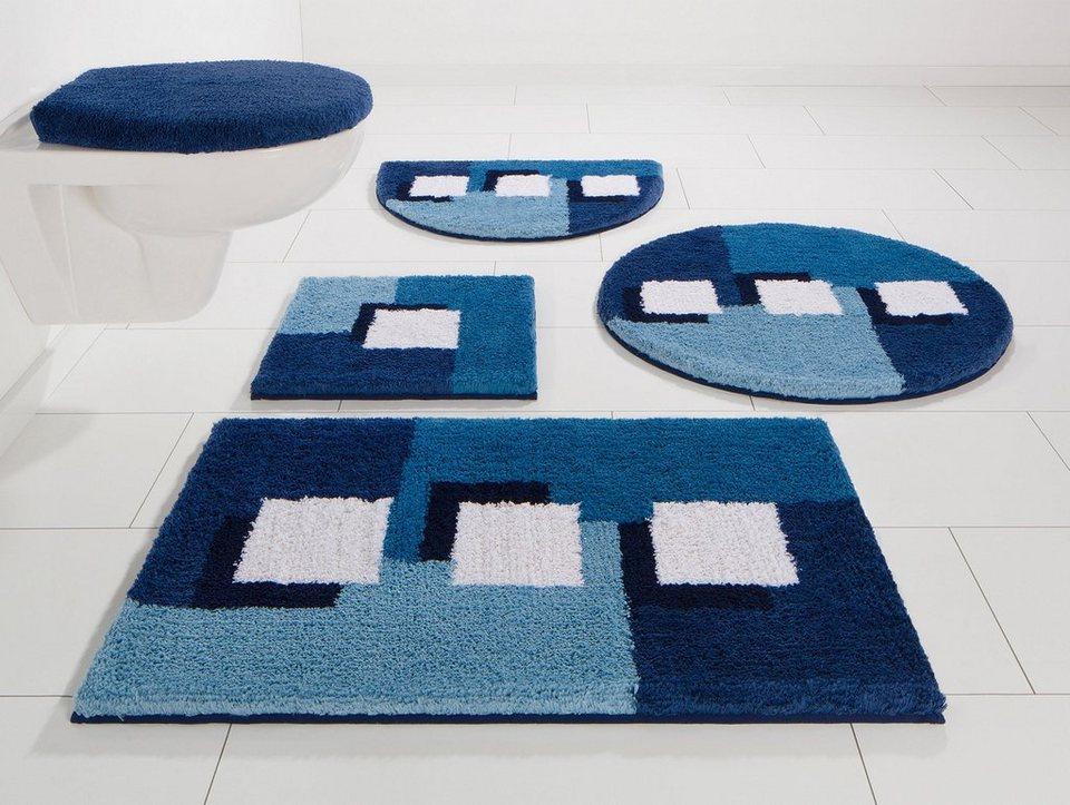 Badematte, my home, »Ada«, Höhe 21 mm, rutschhemmender Rücken in blau