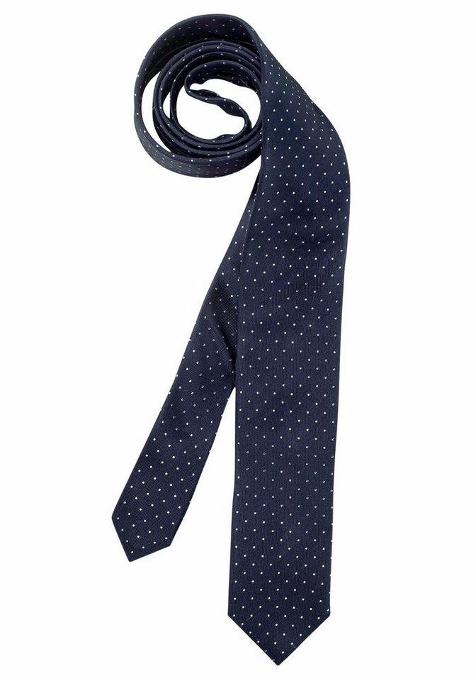 Olymp Krawatte in marine-gepunktet