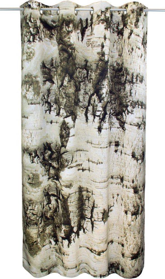 Vorhang, VHG, »Birke«, mit Ösen (1 Stück) in hellgrau