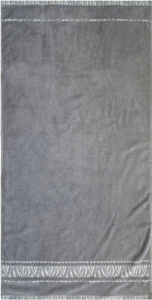 Badetuch, Dyckhoff, »Zebra Bordüre«, mit Bordüre in grau