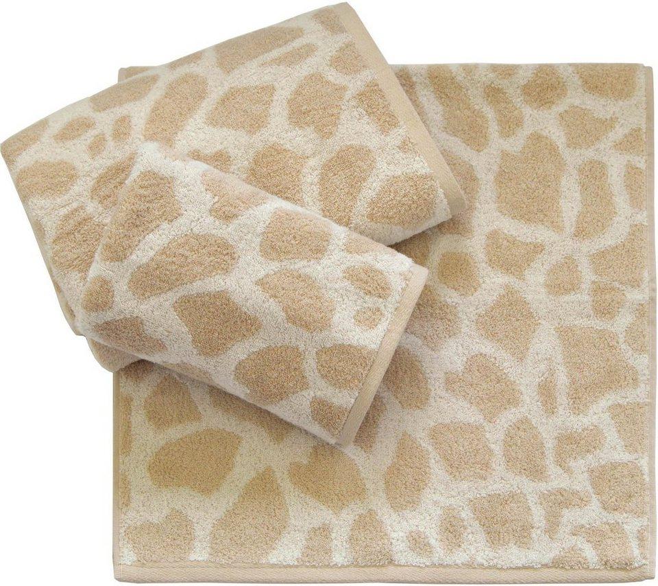 Handtuch Set, Dyckhoff, »Giraffe«, in Giraffelfell-Optik in beige