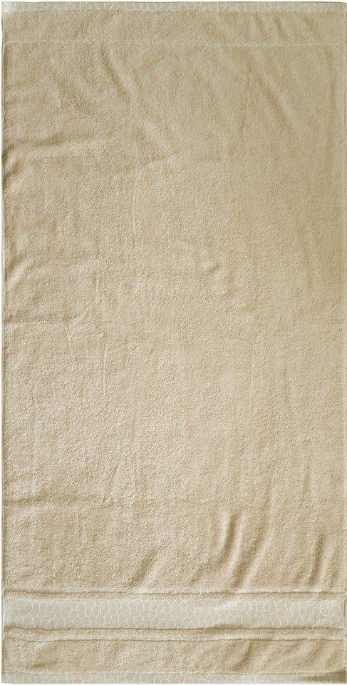 Badetuch, Dyckhoff, »Giraffe Bordüre«, mit Bordüre in beige
