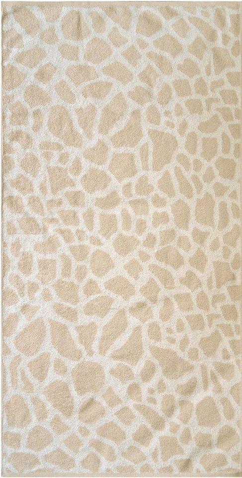 Badetuch, Dyckhoff, »Giraffe«, in Giraffelfell-Optik in beige