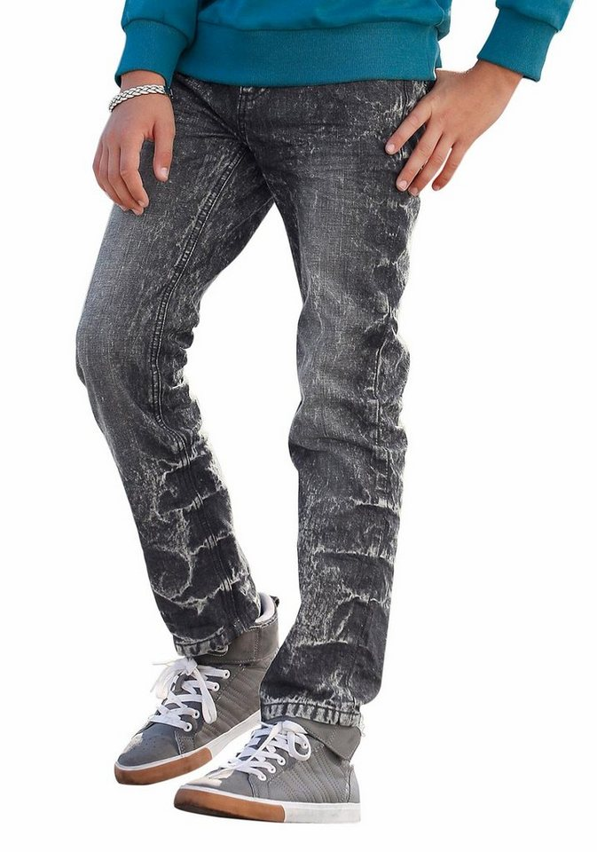 Bench Regular-fit-Jeans mit geradem Bein in black-moonwashed
