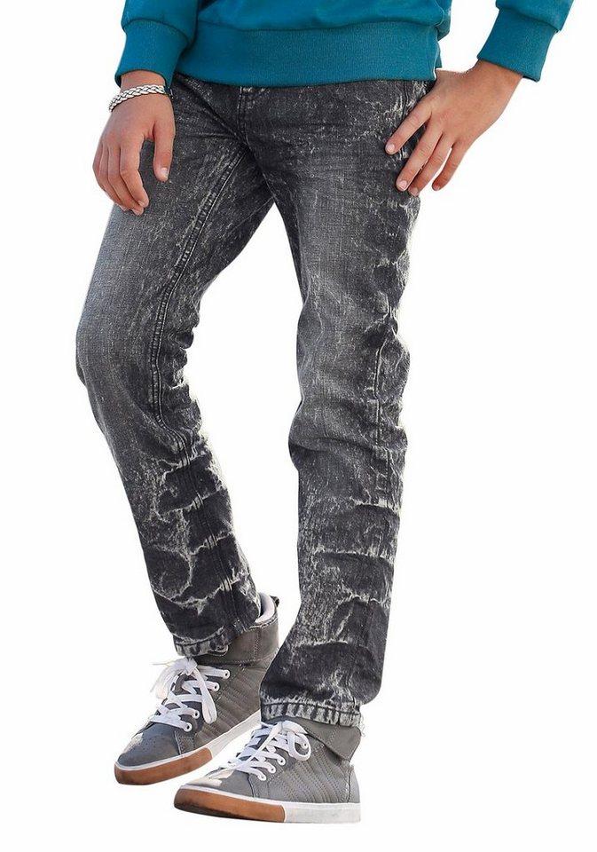 Bench Regular-fit-Jeans SLIM in black-moonwashed