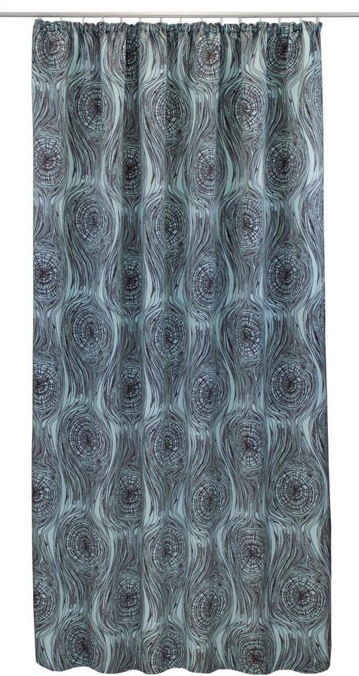 Vorhang, VHG, »Jahresringe Retro« (1 Stück) in blau