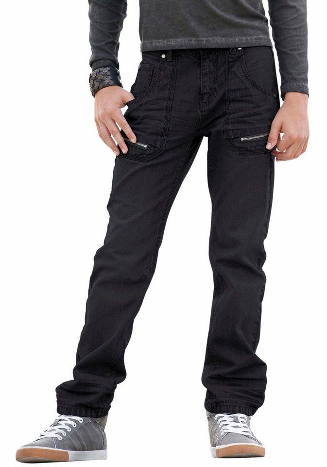 Buffalo Regular-fit-Jeans mit geradem Bein in black-denim