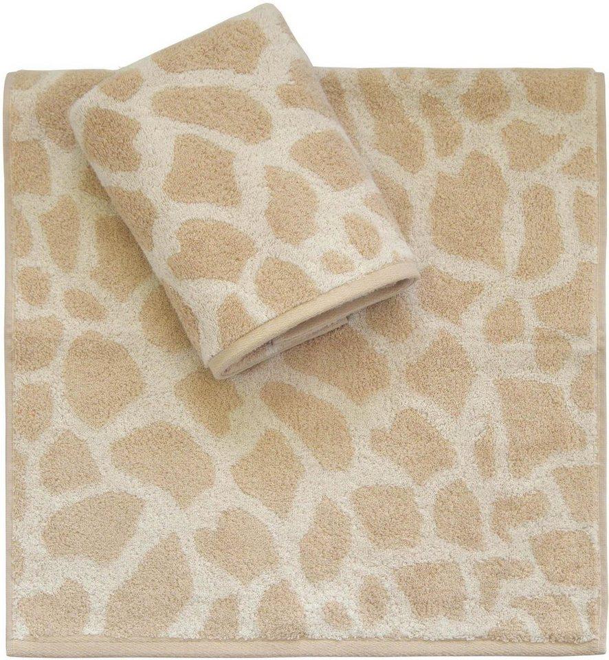 Handtücher, Dyckhoff, »Giraffe«, in Giraffelfell-Optik in beige