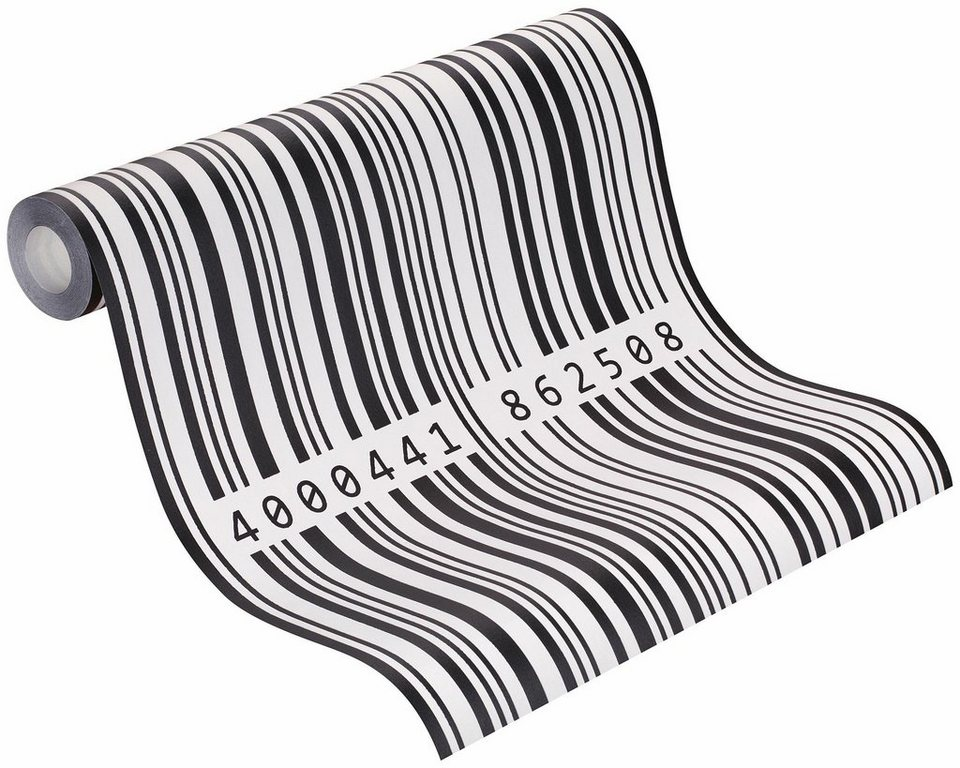 Vliestapete, Rasch, »Bits & Bytes 3« in weiß, schwarz