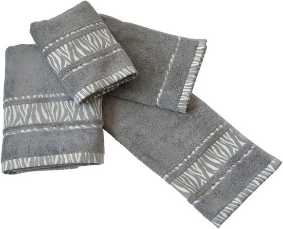 Dyckhoff Handtuch Set »Zebra Bordüre«, mit Bordüre