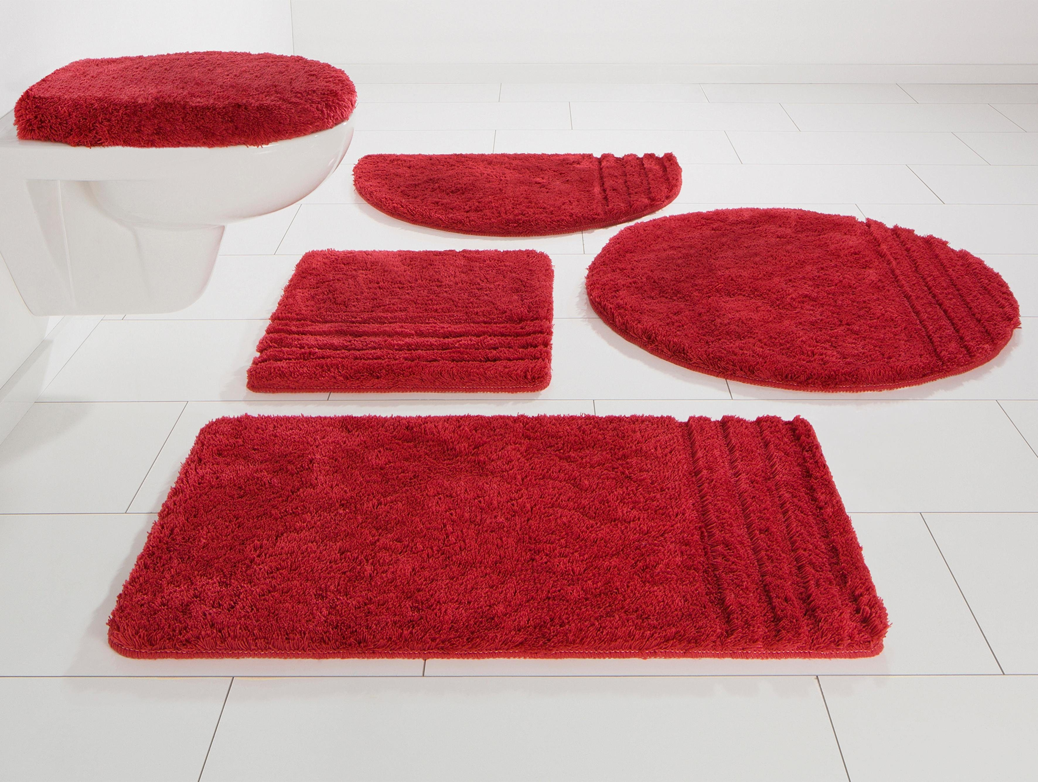 Hotelmatte Duschvorleger 60 x 80 rosa Frottee Baumwolle Kachel Muster