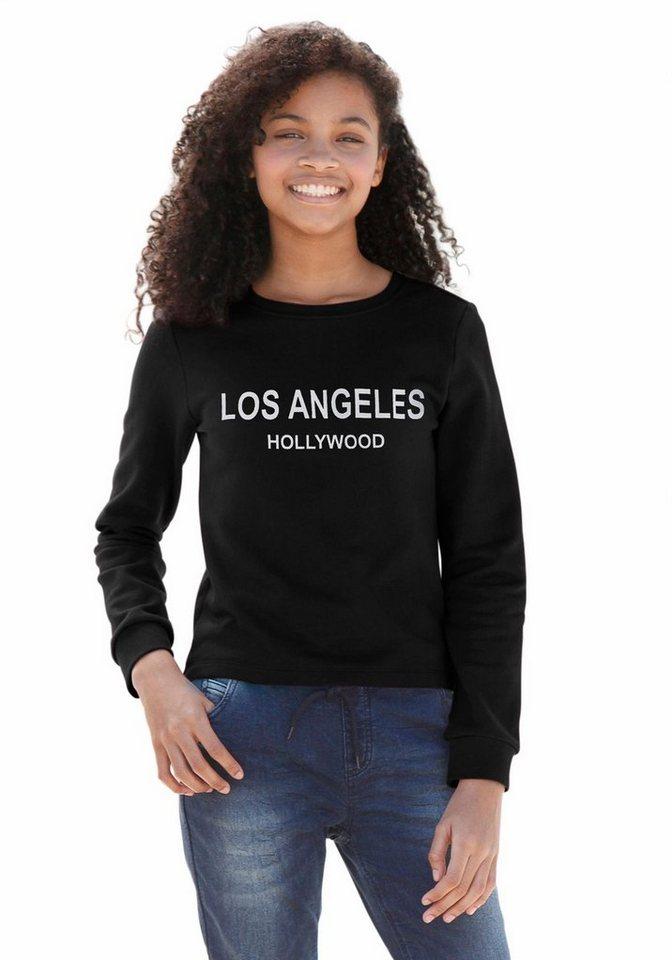 Buffalo Sweatshirt mit Frontdruck in schwarz