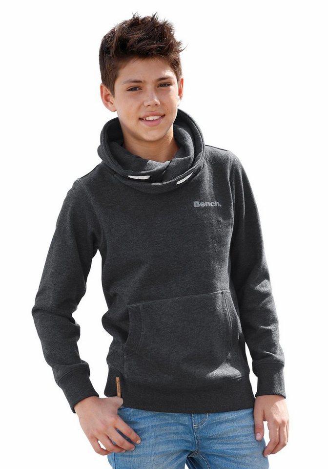 Bench Sweatshirt Mit großem Schalkragen in anthrazit-meliert