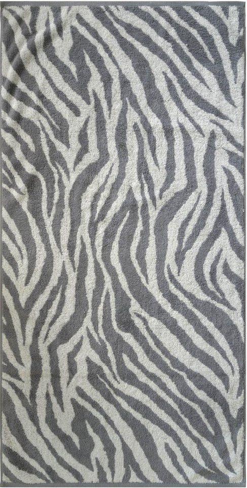 Badetuch, Dyckhoff, »Zebra«, in Zebrastreifen-Optik in grau