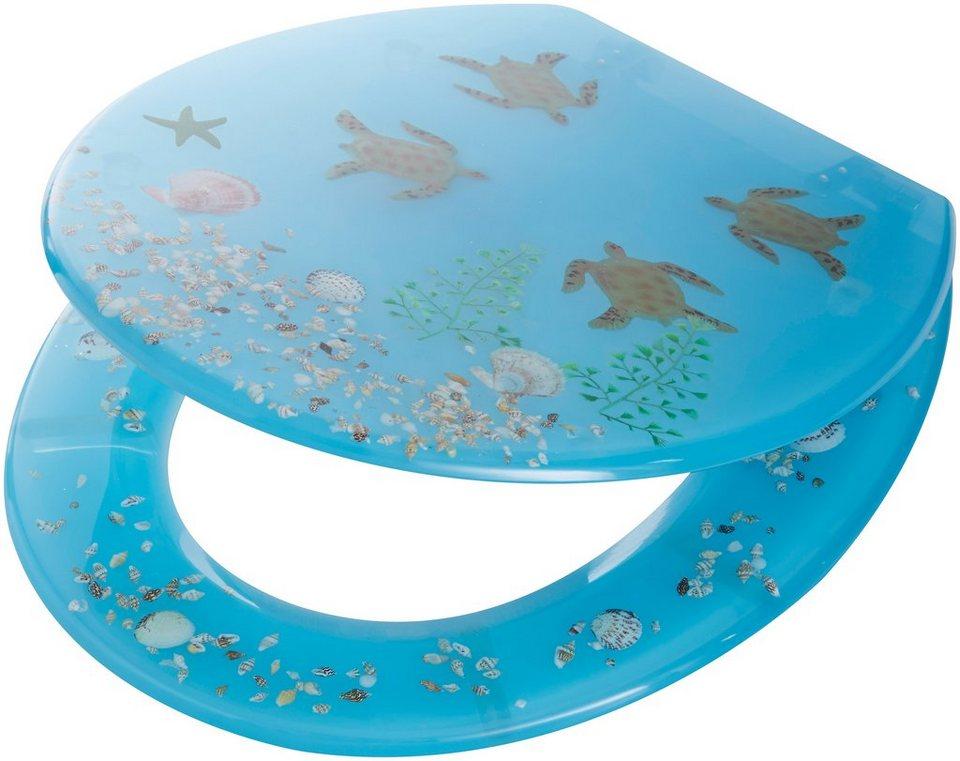 WC-Sitz »Schildkröten« in blau