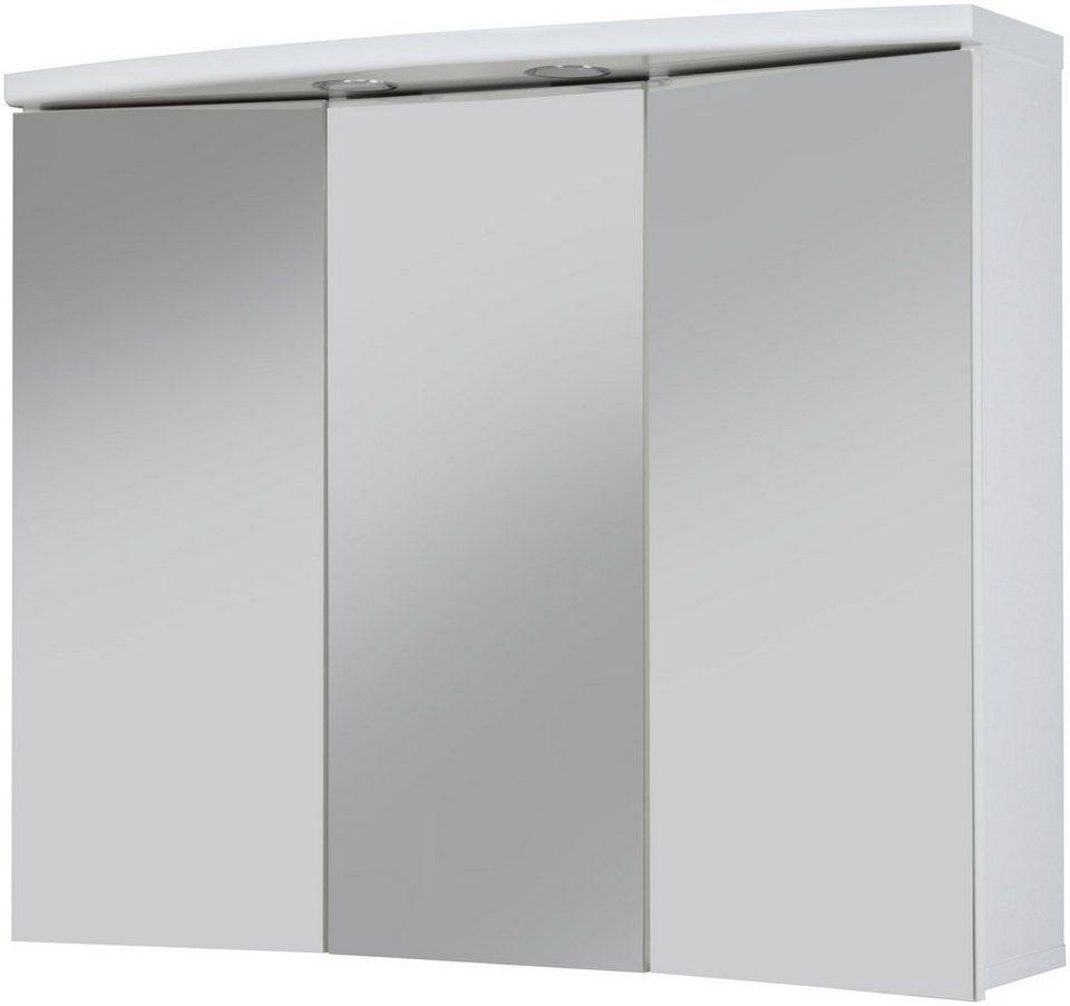Spiegelschrank »Ancona« Breite 83 cm, mit LED-Beleuchtung in weiß