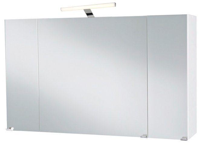 Kesper Spiegelschrank »Malmö« Breite 100 cm, mit LED-Beleuchtung in weiß