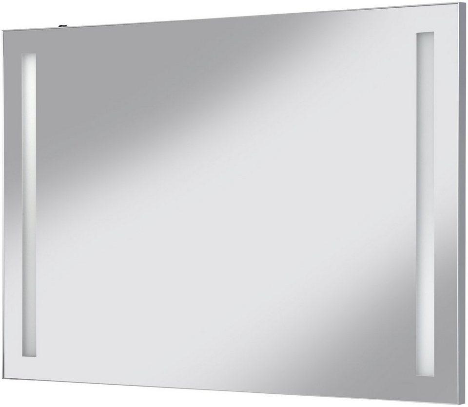Schildmeyer Spiegel / Badspiegel »Merle«, Breite 100 cm in aluminiumfarben x silber