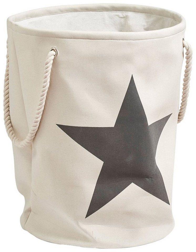 Wäschesammler »Stern« in beige, grau