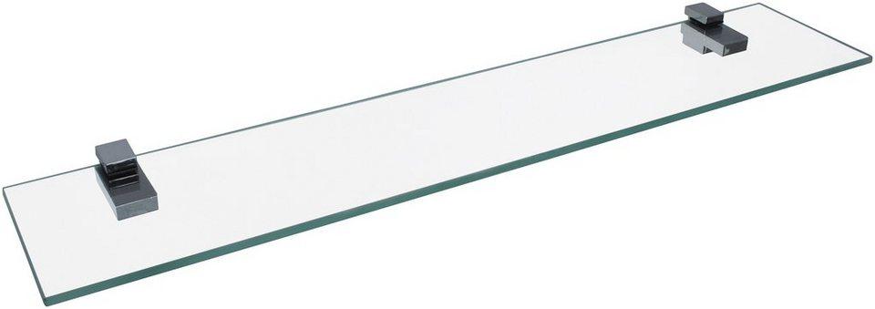 Ablage »aus Glas«, Breite 60 cm in transparent