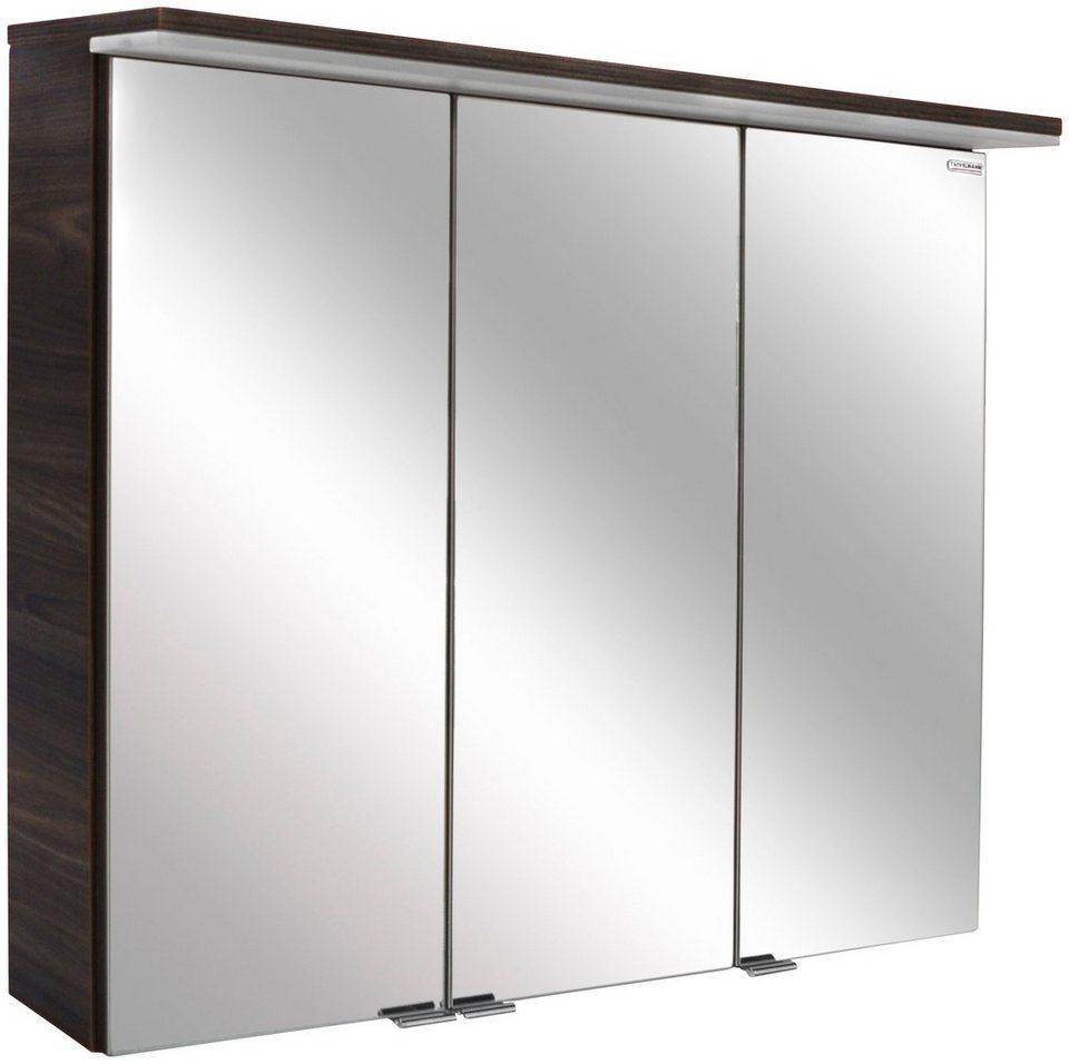Spiegelschrank »Yega« Breite 80,5 cm, mit LED-Beleuchtung in braun