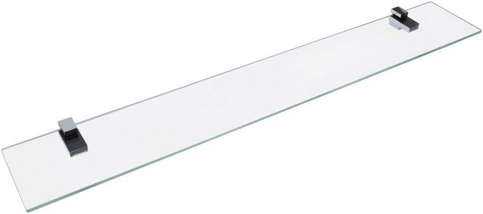 Ablage »aus Glas«, Breite 80 cm in transparent