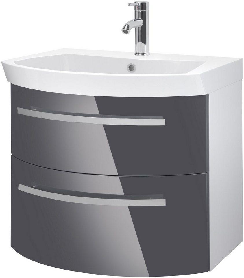 Waschtisch »Flow«, Breite 65 cm, (2-tlg.) in grau