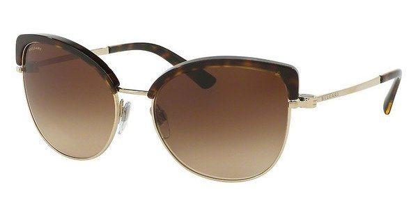 Bvlgari Damen Sonnenbrille » BV6082« in 278/13 - braun/braun