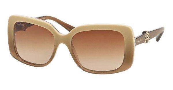 Bvlgari Damen Sonnenbrille » BV8146B« in 533813 - weiß/braun