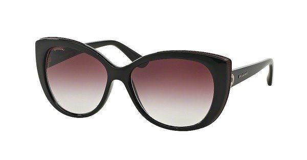 Bvlgari Damen Sonnenbrille » BV8157BQ« in 901/8H - schwarz/lila