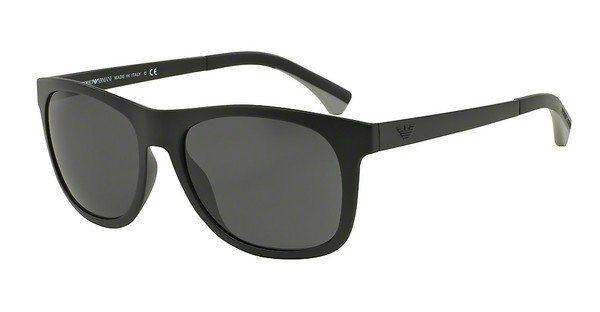 Emporio Armani Herren Sonnenbrille » EA4034« in 504287 - schwarz/grau